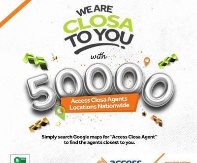 Access Bank brings Banking to the doorstep of Nigerians with over 50,000 Closa Agents